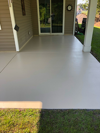 Epoxy Flooring outside porch by OLT Painting